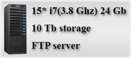 15* i7(3.8 Ghz) 16 Gb || 10 Tb storage || FTP server
